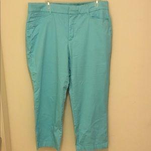 Turquoise crop pants